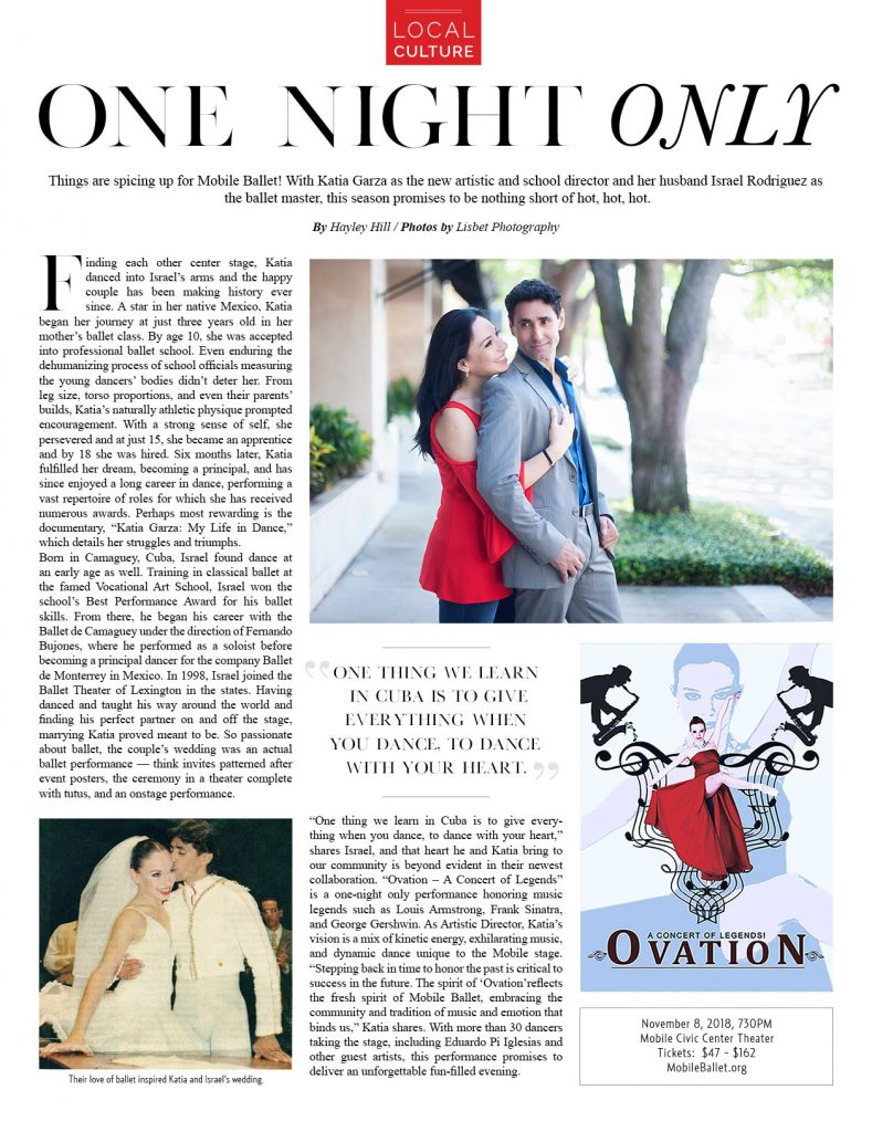 Access Magazine - One Night Only - Mobile Ballet